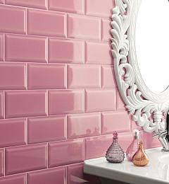 Metrotegel Uni Pink Glans