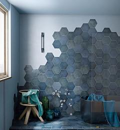 Vloertegel Medieval Hexagon Indigo