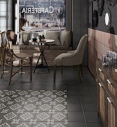 Vloertegel Art N. Decor Padua Black