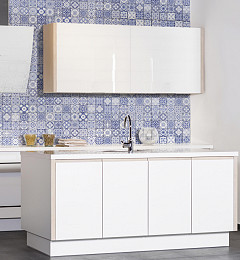 Nederlandse Wandtegel Aragon Blue Decor Glans