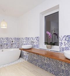 Typisch Nederlandse Wandtegel Blauw Decor Glans