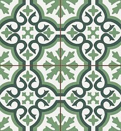 Vloertegel Burklie Groen 4 in 1