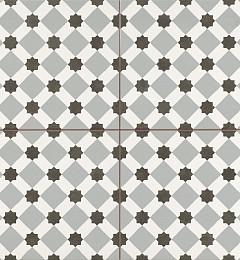 Vloertegel Geometrica Grijs 4 in 1