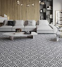 Vloertegel Ilusions Line Zwart 4 in 1