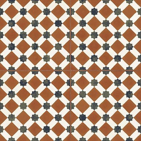 Vloertegel Geometrica Rood 4 in 1