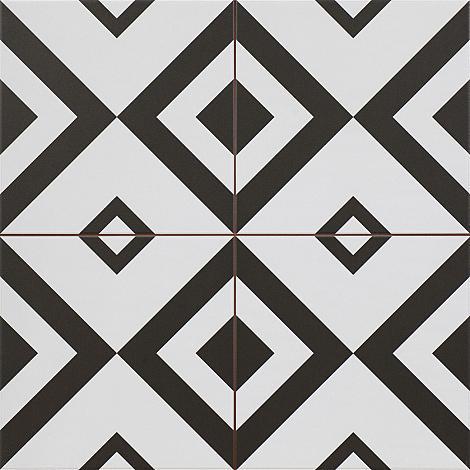 Vloertegel Ilusions Black 4 in 1